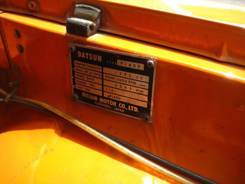 Ubicacion Del N De Chasis De Datsun L 620