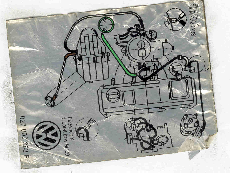 Volkswagen Golf A2 Foto O Diagrama De Valvuras De Vacio Y