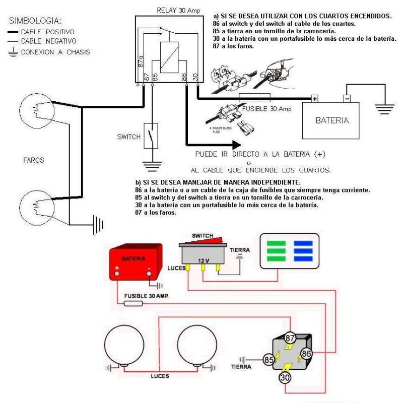 Instalaci  N De Faros Con Relay  Luces Halogenas  Elevador De Luces