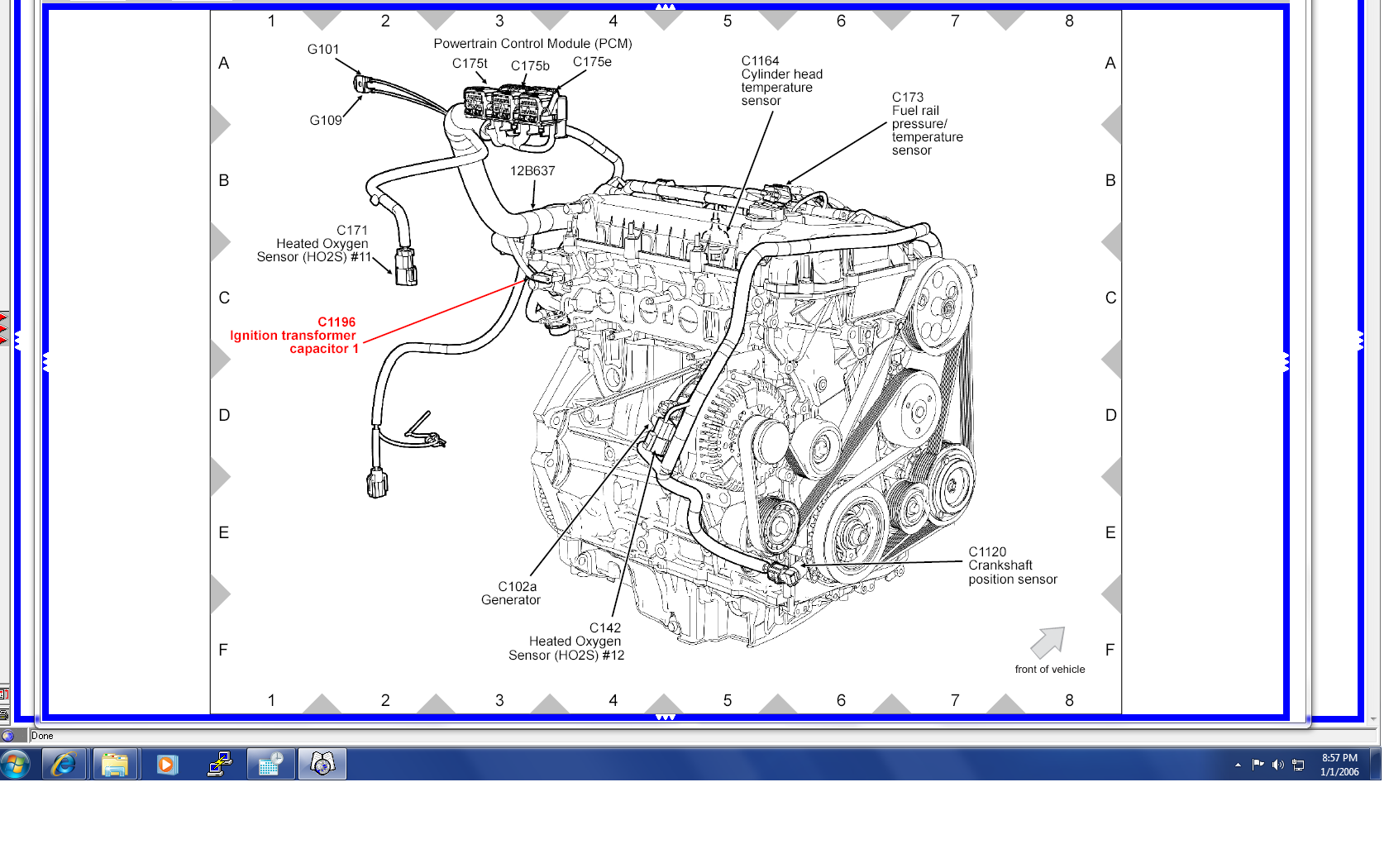 2002 Ford Escape 3 0 Engine Diagram Not Lossing Wiring Crank Position Sensor Jeep 4 0l 2007 Edge 2012 Mustang 05 V6 1996