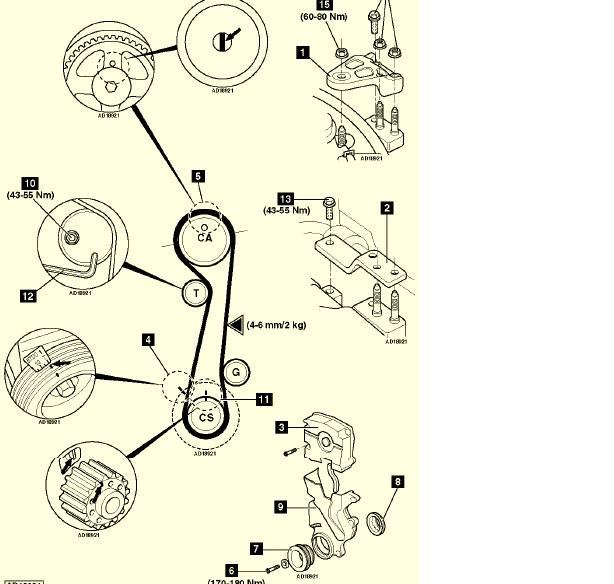 cadena de tiempo tucson colocacion #1
