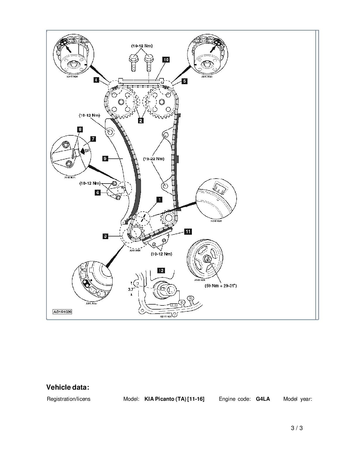 como sincronizar un kia pikanto motor g4la 2011