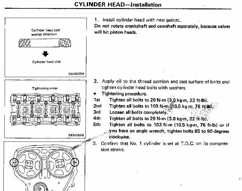 Nissan Ca Det Head Torque