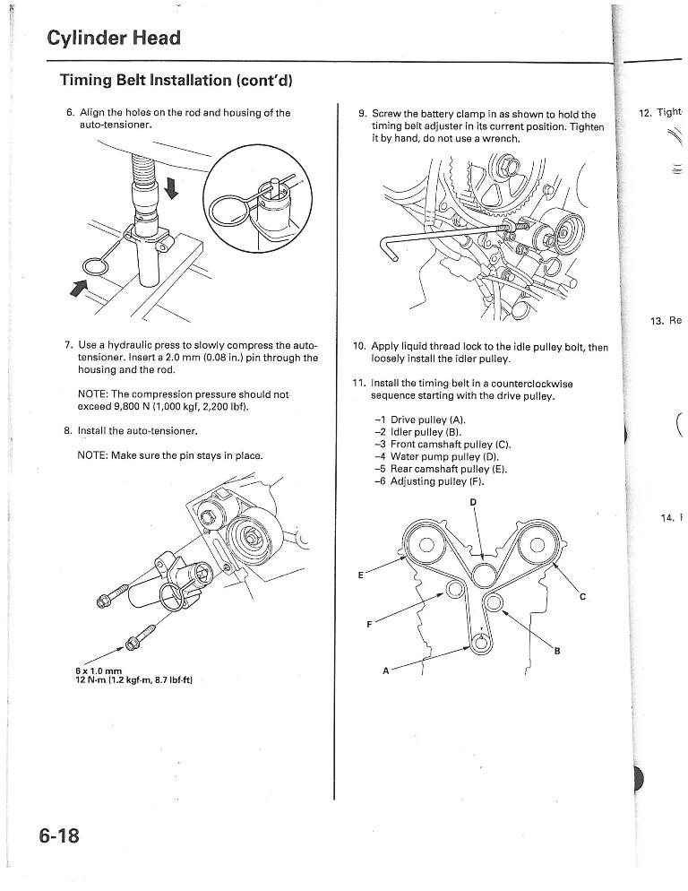 99 Toyota Timing Belt Diagram