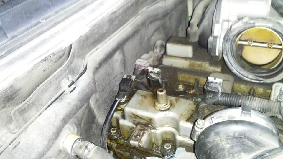 Chevrolet Colorado moja el filtro con aceite