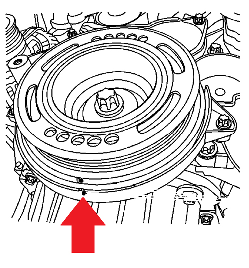 cambiar y sincronizar banda de tiempo chevrolet sonic 1 6