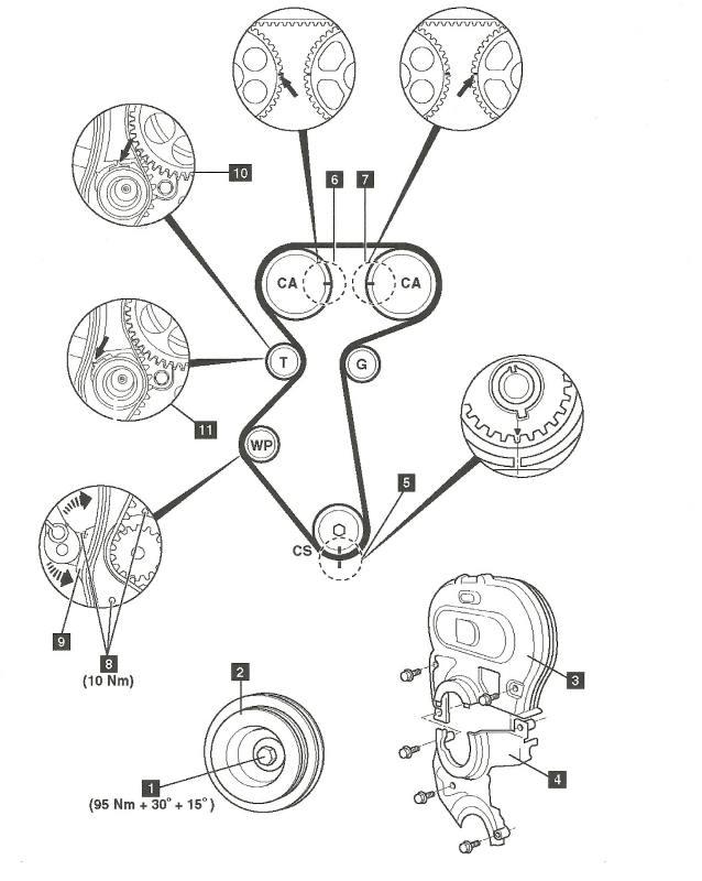 diagrama de cadena distribuci u00f3n de chev sail 2011