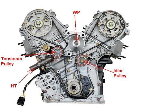 Honda Odyssey J Timing Marks on 2006 Honda Pilot Timing Belt Diagram