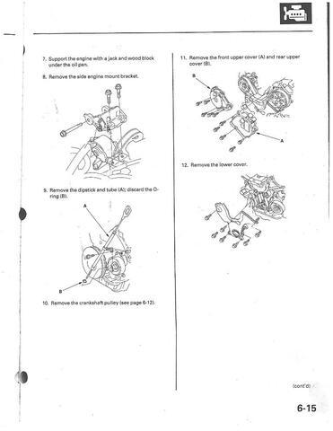 Diagrama de distribución de Honda Pilot 3.5L
