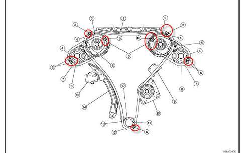 Diagrama De Cadena De Tiempo Motor Ea82 Subaru 1985 P 203