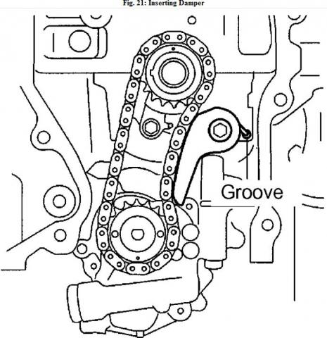 Highlander Thermostat Also Toyota Avensis Verso On 2az Fe Engine Belt in addition Toyota Camry Serpentine Belt Tensioner together with 4ajgu 4cyl Head Replace Head Gasket Timing Chain Marks as well Engine Lifting Plate Chain further Honda Accord 1998 Honda Accord How Do You Realign The Balance Shaft For. on 2az fe