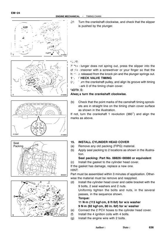 toyota 2nz fe timing marks nissan k 12 engine timing marks diagram