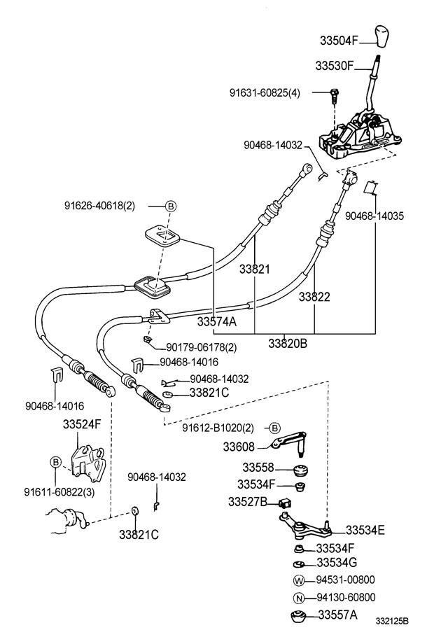 Como Cambiar El Cable Slector De Cambios on Toyota Pickup Parts Diagram