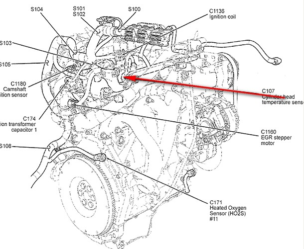 1994 Ford F 150 F150 Xlt 50 302cid Surging Bucking likewise 2000 Kia Sportage Engine Diagram Html further Ford Thunderbird 4 6 1996 Specs And Images in addition F150 F250 Why Wont My Transmission Shift 356885 in addition 2005 Ford F150 Engine Diagram. on ford 5 4 temp sensor location