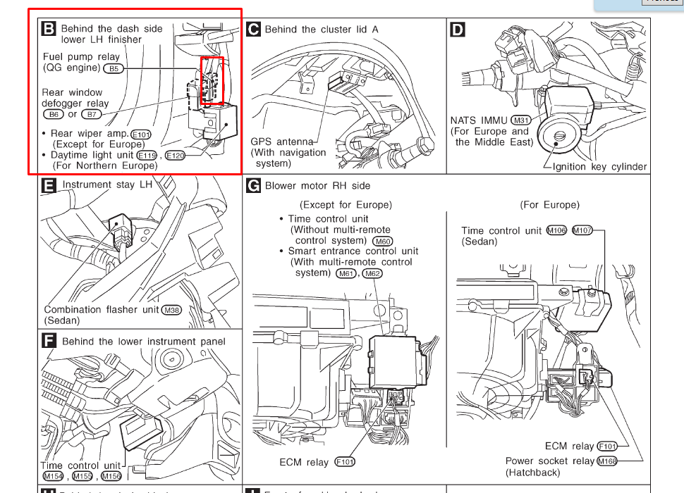 4dxiv Nissan Titan Wont Start A Recall Ecm Relay Dies moreover Nissan pathfinder o2 air fuel sensor location as well Nissan Sentra Neutral Safety Switch Location additionally 5a2hn Fuses Tail Lights 2004 Maxima additionally Nissan Airbag Sensor Location. on 2000 nissan xterra fuse diagram
